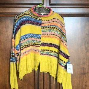 NWT Free people multi color sweater